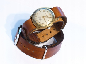 Skórzany pasek do zegarka NATO 18, 20, 22 N-1